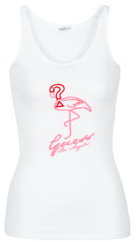 GUESS FLAMINGO TANK TOP women's Vest top in White