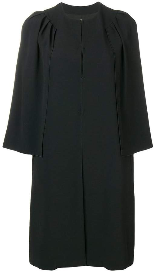 Genny cropped sleeve single-breasted coat