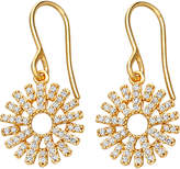 Astley Clarke Rising Sun 14ct yellow gold and diamond earrings