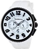 Tendence Unisex Quartz Watch with White Dial Analogue Display and White Plastic Strap 2046017