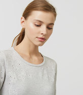 LOFT Ivy Embroidered Sweatshirt