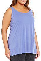 Eileen Fisher Plus Scoopneck Silk Tunic