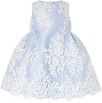 Monsoon Baby Lace Dress Blue
