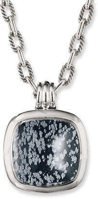 David Yurman Albion Pendant with Snowflake Obsidian
