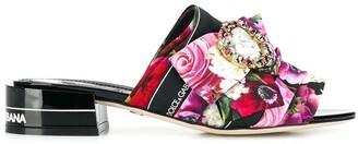 Dolce & Gabbana Flower Print Mules