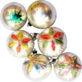 One Kings Lane Vintage Hand-Painted Floral Ornaments, S/6