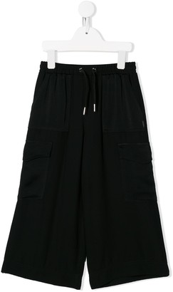 Givenchy Kids Wide-Leg Cargo-Style Trousers