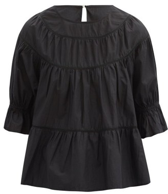 Merlette New York Sol Tiered Cotton-lawn Top - Black