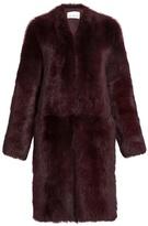 Raey Long shearling coat