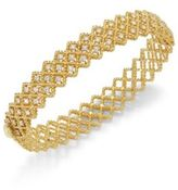 Roberto Coin Barocco Diamond & 18K Yellow Gold Bangle