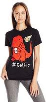 Goodie Two Sleeves Juniors Dinasour #Selfie Graphic Tee