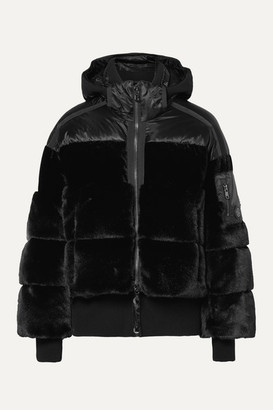Bogner Duna Oversized Quilted Faux Fur And Velvet Down Ski Jacket - Black