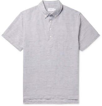 Onia Button-Down Collar Striped Linen And Tencel-Blend Shirt