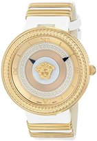 Versace Women's VLC040014 V-METAL ICON Analog Display Swiss Quartz White Watch
