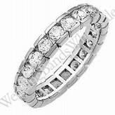 Wedding Bands Wholesale 14k Gold Diamond Eternity Wedding Bands, Box Setting 2.00 ct. DEB00214K - Size 4