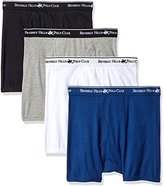 Beverly Hills Polo Club Men's 4 Pack Solid Boxer Brief