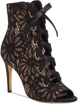 INC International Concepts Romeily Lace-Up Evening Booties, Created for Macy's