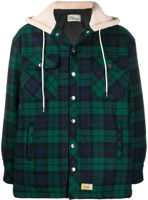 Drôle De Monsieur Tartan-Print Shirt Jacket