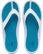 Board Angels Womens EVA Toe Post Sandals White/Turquoise