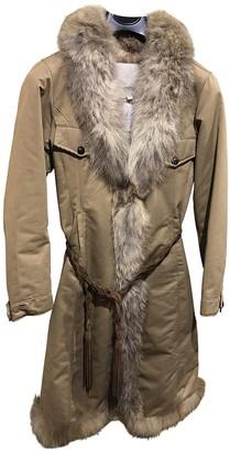Henry Cotton Camel Cotton Coat for Women