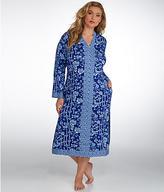 Oscar de la Renta Blocked Print Knit Caftan Plus Size