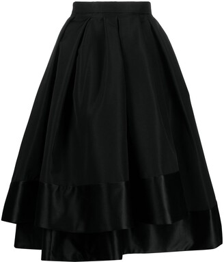 Alexander McQueen Layered Midi Skirt