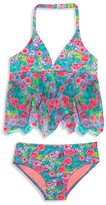 Hula Star Girls' Rose Tango 2-Piece Swimsuit - Little Kid