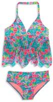 Hula Star Girls' Rose Tango 2-Piece Swimsuit - Sizes 2-6X