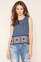 Forever 21 FOREVER 21+ Contemporary Geo Print Top
