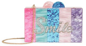 Bari Lynn Smile Rainbow Box Clutch Bag