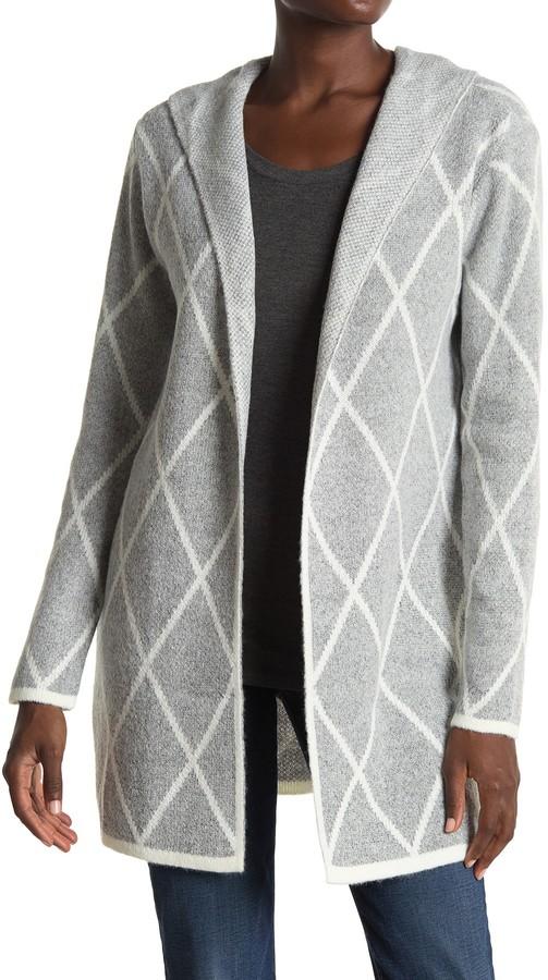 Apollo Hooded Pattern Cardigan
