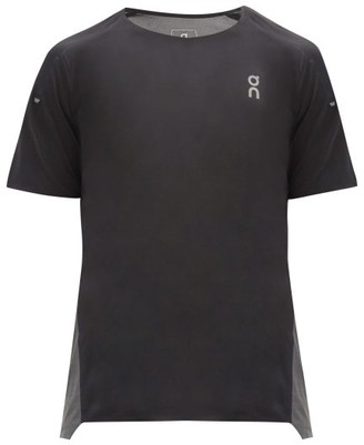 On Panelled Mesh And Technical-jersey T-shirt - Black