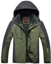 Magcomsen Men's Mountain Sportswear Waterproof Jacket Hooded Windproof Raincoat