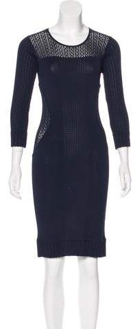 Marchesa Voyage Knit Paneled Dress