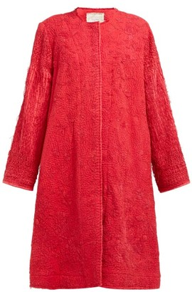 By Walid Tanita 19th-century Silk Coat - Red