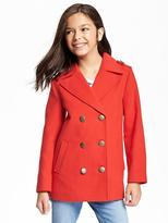 Old Navy Brushed Military-Style Peacoat for Girls