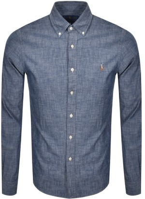 Ralph Lauren Chambray Slim Fit Shirt Navy