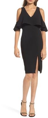 Adelyn Rae Selah Cold Shoulder Sheath Dress