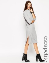 Asos High Neck Column Dress in Rib
