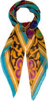 Chanel Gripoix Silk Chiffon Shawl