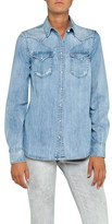 Replay Denim Shirt With Double Pocket