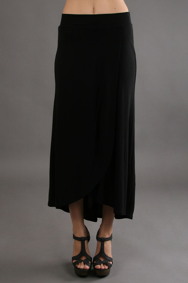 Three Dots High Low Skirt in Black