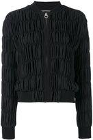 Versace ruche bomber jacket - women - Silk/Polyethylene/Acetate - 42