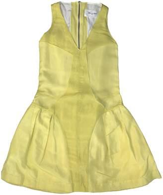 Rue Du Mail Yellow Silk Dress for Women