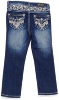 ZCO Medium Blue Sequined Straight-Leg Jeans - Girls