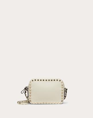 Valentino Small Rockstud Calfskin Crossbody Bag Women Light Ivory Calfskin 100% OneSize