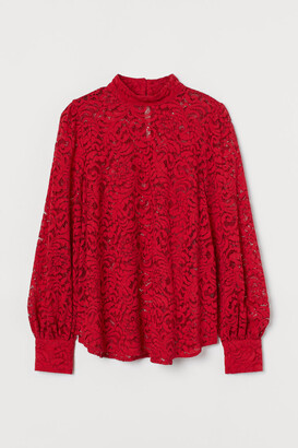 H&M Lace Blouse - Red