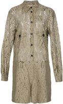 No.21 floral lace playsuit - women - Cotton/Polyamide/Viscose - 40