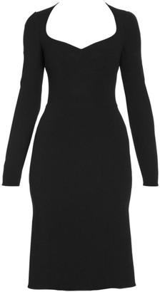 Dolce & Gabbana Long-Sleeve Midi Dress