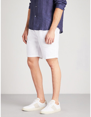 Derek Rose Solid linen shorts